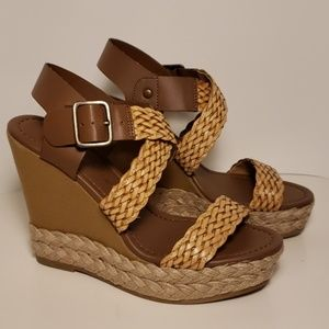 Montego Bay Club Brown Taupe Weave Wedge